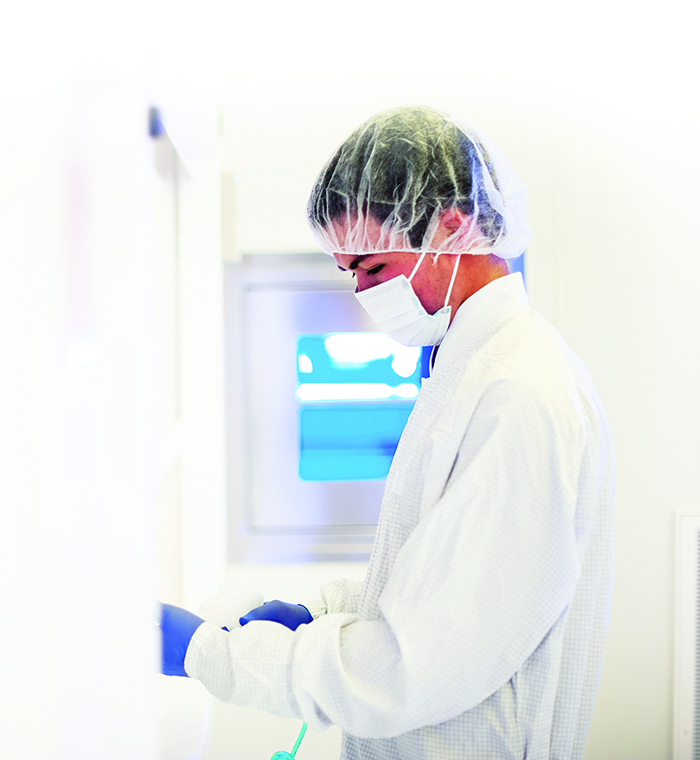 Michael Carton is an undergraduate research assistant in UA's Micro-Fabrication Facility, commonly called the clean room.