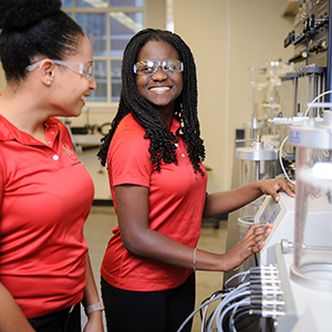 Brittan Jarmon is the organization's secretary and a chemical engineering senior. Tobi Adedokun serves as the fundraising chair for NSBE and is a junior majoring in chemical engineering.