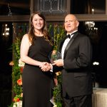 Morgan Ross and Dean Karr at Fellows ceremony