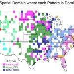 A chart of the US showing Spatial Domains