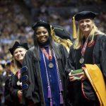Doctorate graduates at commencement