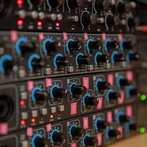 Close up of recording equipment