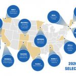 Graphic of the US showing CSLI Selections