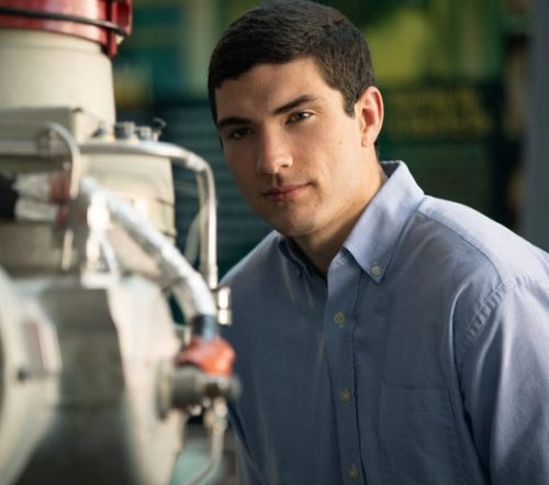Peyton Strickland looks at some machinery