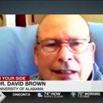 News screen capture of Dr. David Brown